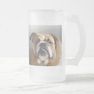 Bulldog Face - English Bulldog, Brown Coffee Mugs