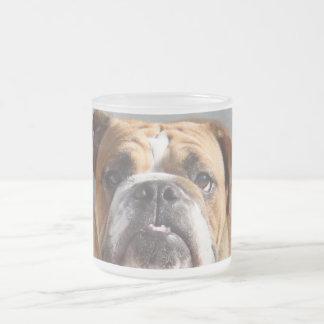 Bulldog Face - English Bulldog, Brown Mug