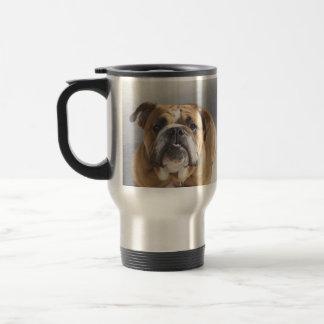 Bulldog Face - English Bulldog, Brown Mugs