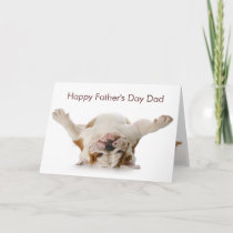 Bulldog Father's Day Card