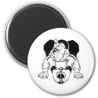 Bulldog Football Magnet