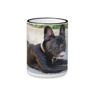 Bulldog francesas taza a dos colores