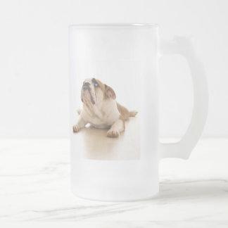 Bulldog frosted 16 oz beer mug