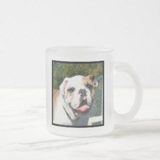 Bulldog frosted mug