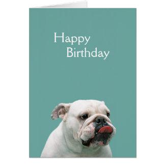 Bulldog funny face custom birthday card