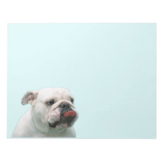 Bulldog funny face with tongue notepad, gift notepad