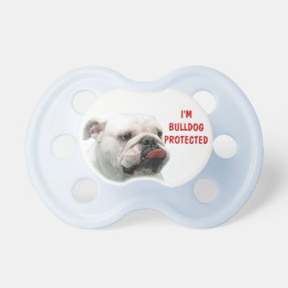 Bulldog funny face with tongue sticking out custom BooginHead pacifier