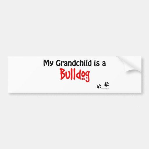 Bulldog Grandchild Bumper Sticker