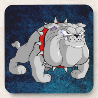 BULLDOG GRAY CARTOON BEVERAGE COASTER