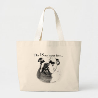 Bulldog Happy Face Bags