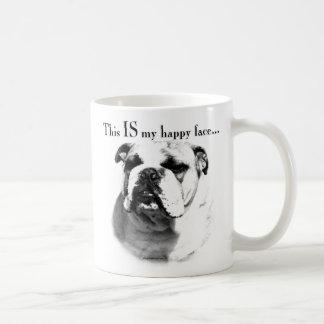 Bulldog Happy Face Coffee Mug
