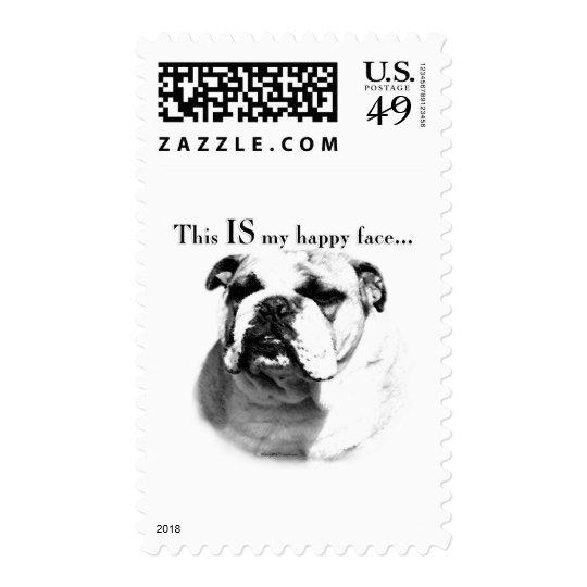 Bulldog Happy Face Postage