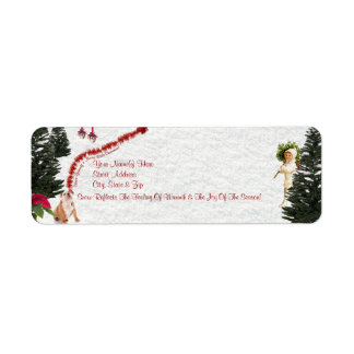 Bulldog Have Yourself a Merry Little Christmas Return Address Label