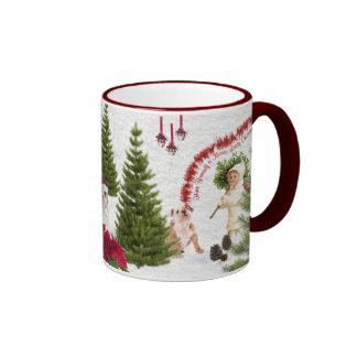 Bulldog Have Yourself a Merry Little Christmas Ringer Mug