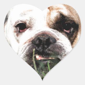 Bulldog Heart Sticker