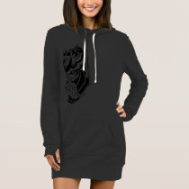 BULLDOG-Hoody Dress - Tribal Sketch Large
