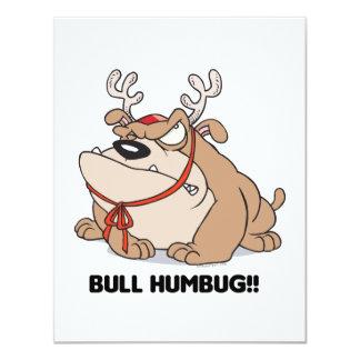 bulldog humbug 4.25x5.5 paper invitation card