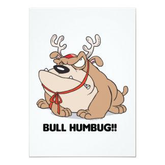 bulldog humbug 5x7 paper invitation card