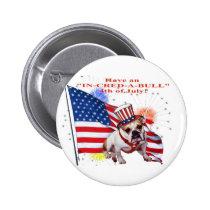 Bulldog - Independence Day Celebration Button