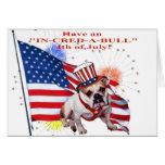 Bulldog - Independence Day Celebration Greeting Card