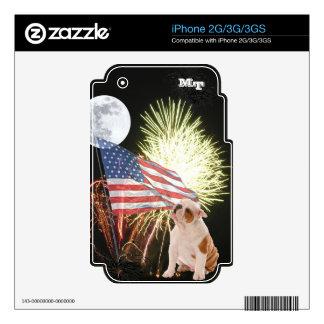 Bulldog iPhone 2G/3G/3GS Custom Skin iPhone 3 Decals