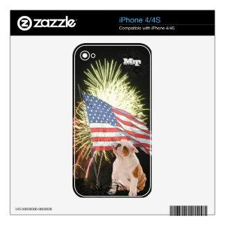 Bulldog iPhone 4/4S Custom Skin iPhone 4S Decal