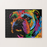 "Bulldog Jigsaw Puzzle<br><div class=""desc"">A bulldog is the common name for a breed of dog also referred to as the English bulldog or British Bulldog. Other bulldog breeds include the American bulldog and the French bulldog. The bulldog is a breed with characteristically thick shoulders and a matching head. There are generally thick folds of...</div>"