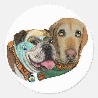 Bulldog & Lab California Adventure Sticker Choices