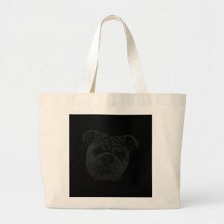 Bulldog Large Tote Bag