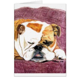 Bulldog - Lily Card