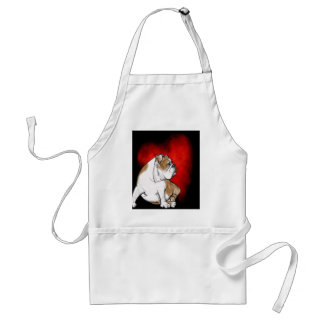 Bulldog Love Adult Apron