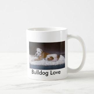 Bulldog Love. American Bulldog Painting Coffee Mug