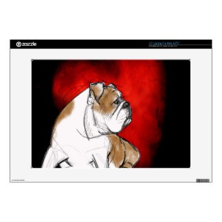 "Bulldog Love Decals For 15"" Laptops"