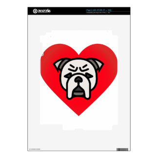 bulldog love decals for the iPad 2