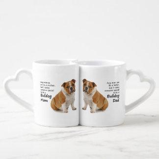 Bulldog Lovers Mom and Dad Mugs