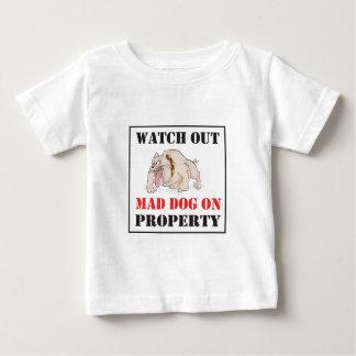 Bulldog ~ Mad Dog On Property Baby T-Shirt