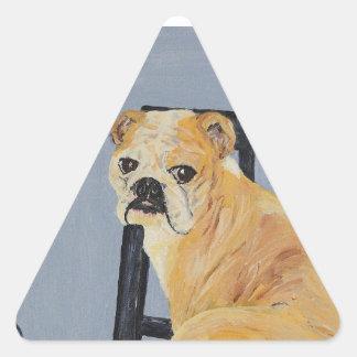 Bulldog Madeline Triangle Sticker