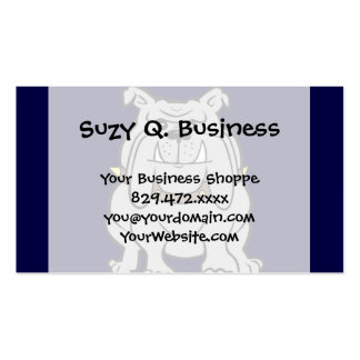 Bulldog Mascot on Blue Double-Sided Standard Business Cards (Pack Of 100)