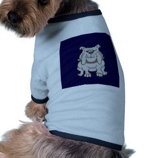 Bulldog Mascot on Blue Dog Clothes