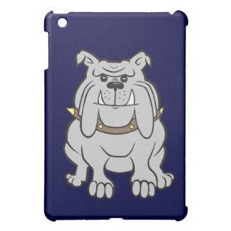 Bulldog Mascot on Blue iPad Mini Cases