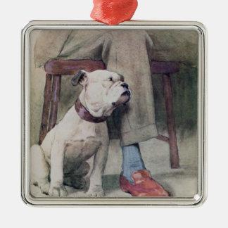 Bulldog Metal Ornament