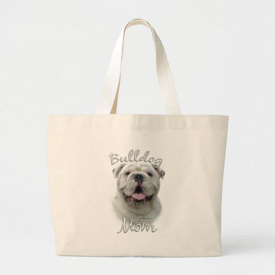Bulldog Mom 2 Large Tote Bag