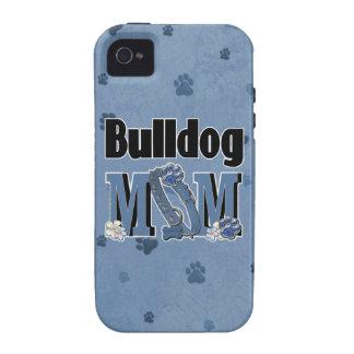Bulldog MOM - Blue Vibe iPhone 4 Cover