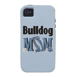 Bulldog MOM - Blue Case-Mate iPhone 4 Cover
