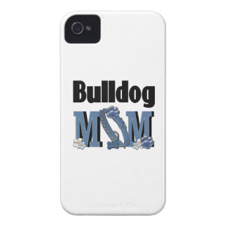 Bulldog MOM - Blue iPhone 4 Covers