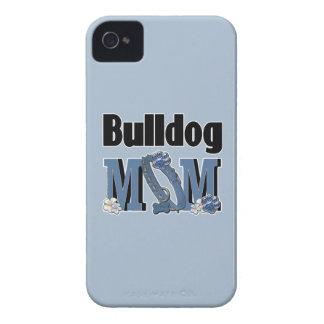 Bulldog MOM - Blue iPhone 4 Cases