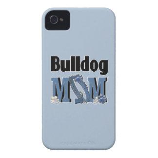 Bulldog MOM - Blue iPhone 4 Case-Mate Cases