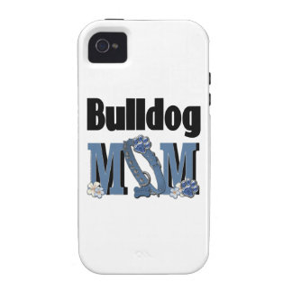 Bulldog MOM - Blue iPhone 4 Case