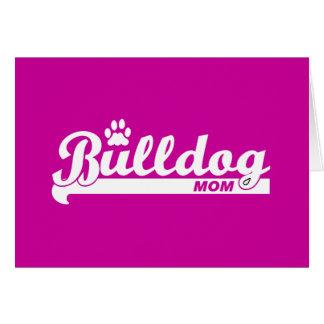Bulldog mom card