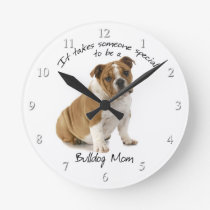 Bulldog Mom Clock